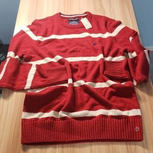 BNWT American Eagle Red White Striped Sweater
